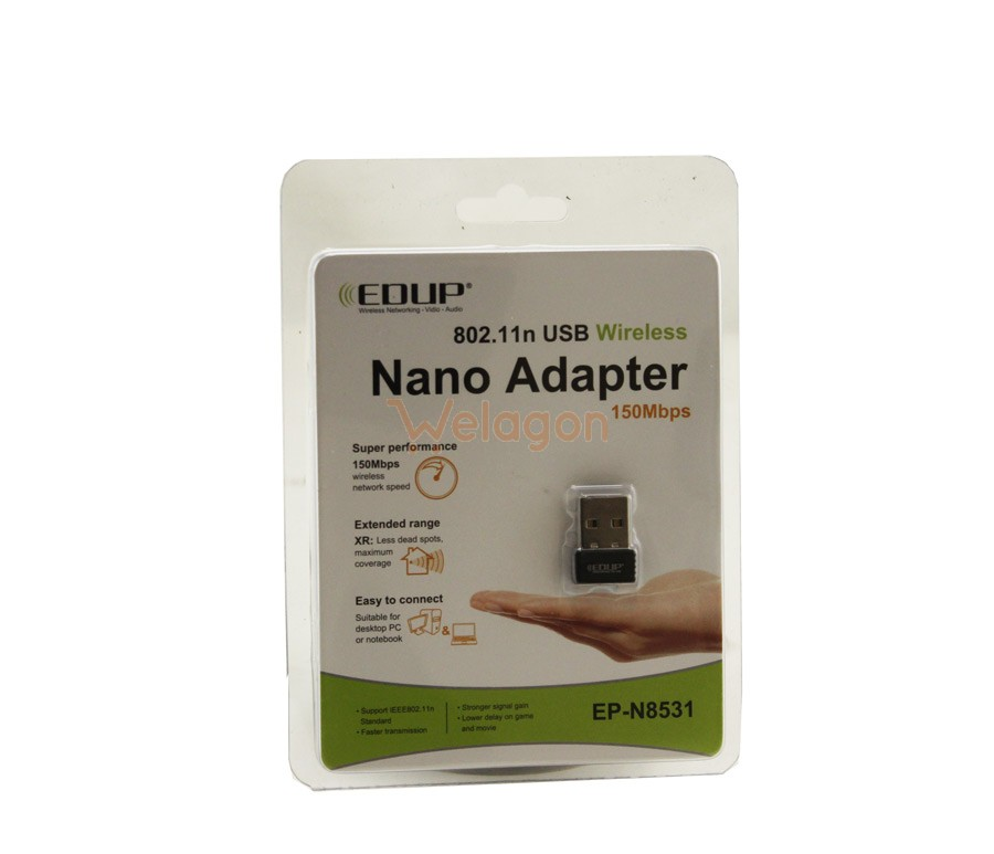 Nano Adapter 150 Mbps 802.11n USB Wireless